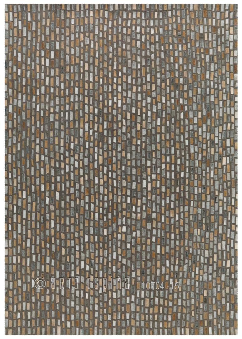 Tapis gris en cuir pour salon Pioneer Arte Espina