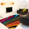 Tapis shaggy en polyester doux multicolore Funky Arte Espina