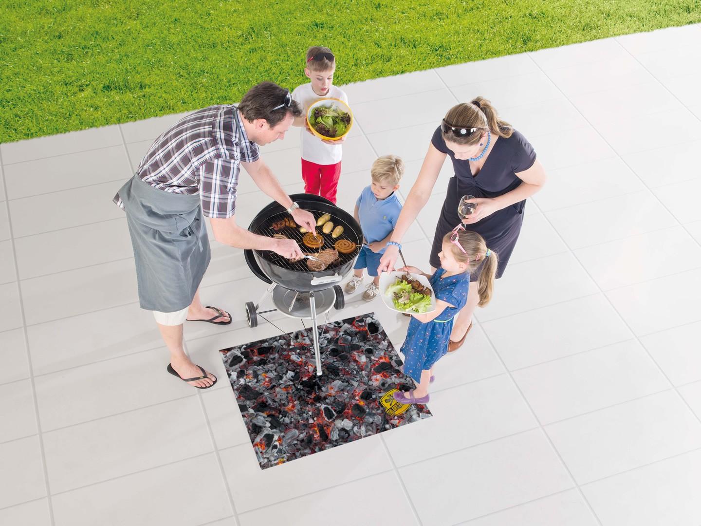 Tapis de barbecue en caoutchouc moderne Soho