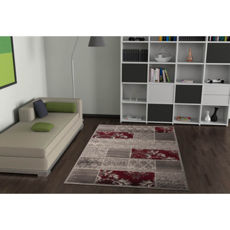 tapis de salon vintage argent convivo life. Black Bedroom Furniture Sets. Home Design Ideas