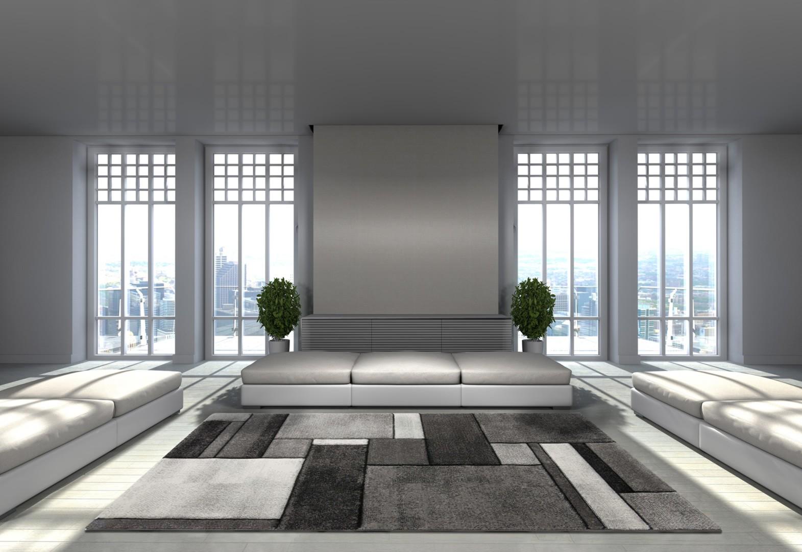 tapis contemporain gris en polypropyl ne orane. Black Bedroom Furniture Sets. Home Design Ideas