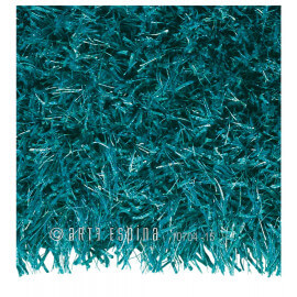Tapis en polyester et acrylique uni turquoise Beat Arte Espina