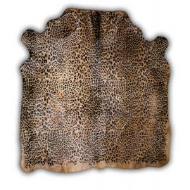 Peau de vache Normande avec imprimé panthère Elda