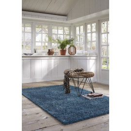 Tapis shaggy en polyester turquoise Cosy Glamour Esprit Home