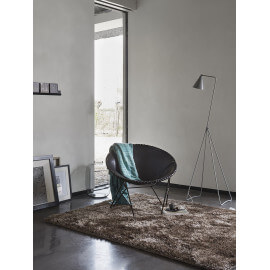 Tapis shaggy uni taupe New Glamour par Esprit Home