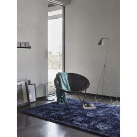 Tapis shaggy uni bleu New Glamour par Esprit Home