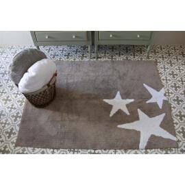 Tapis lavable en machine enfant en coton blanc Tres Estrellas Lorena Canals
