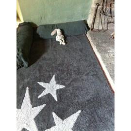 Tapis lavable en machine enfant en coton gris Tres Estrellas Lorena Canals