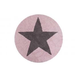 Tapis rond réversible en coton pour enfant Round Star Lorena Canals