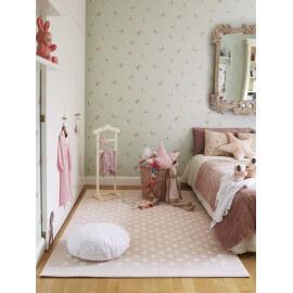 Tapis pour chambre de bébé rose Estrellitas Lorena Canals