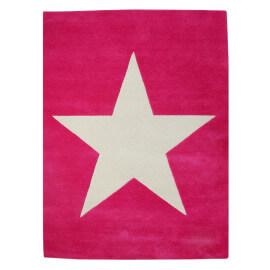 Tapis en laine pour chambre enfant Wool Star fuschia Lorena Canals