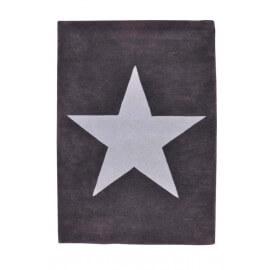 Tapis en laine pour chambre enfant Wool Star gris clair et gris foncé Lorena Canals