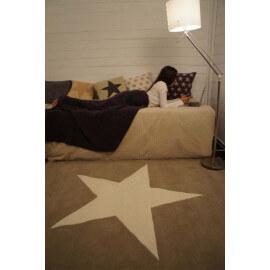 Tapis en laine pour chambre enfant Wool Star taupe et blanc Lorena Canals