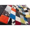 Tapis patchwork en peau de vache multicolore Ibiza