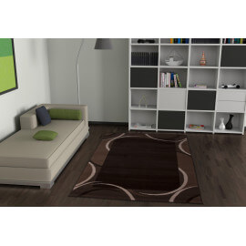 Tapis marron aux velours fins Convivo Post