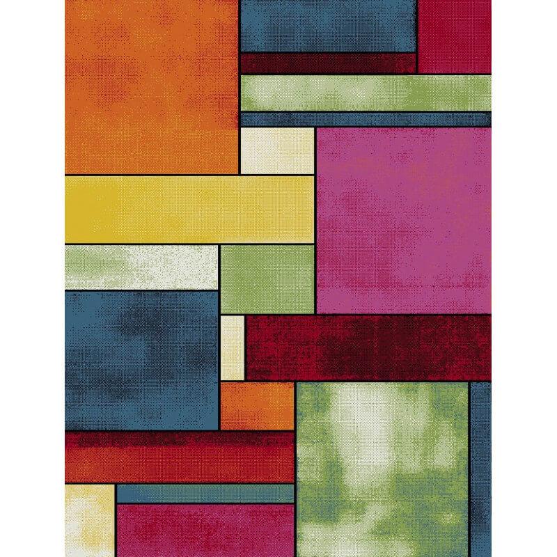 tapis multicolore design en polypropyl ne agasta. Black Bedroom Furniture Sets. Home Design Ideas