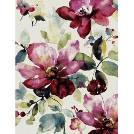 Tapis contemporain à motifs fleuris multicolore Tambo