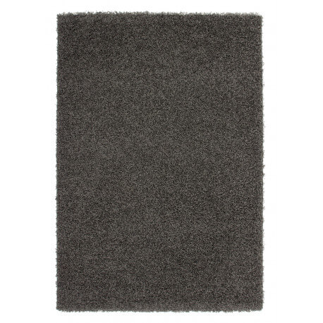 Tapis de salon uni en polypropylène anthracite Hollywood