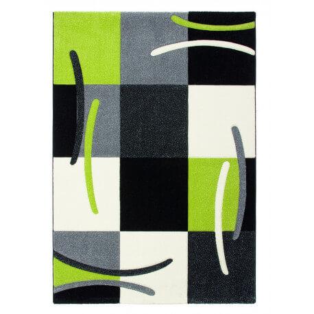 Tapis design pour salon vert Sweet