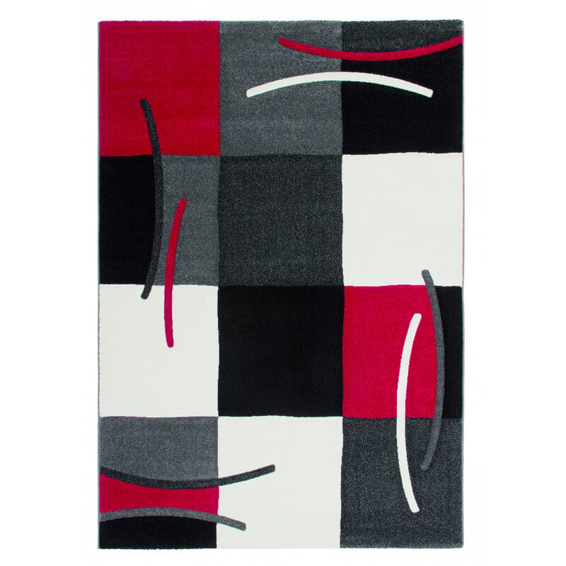 tapis design pour salon rouge sweet - Tapis Design