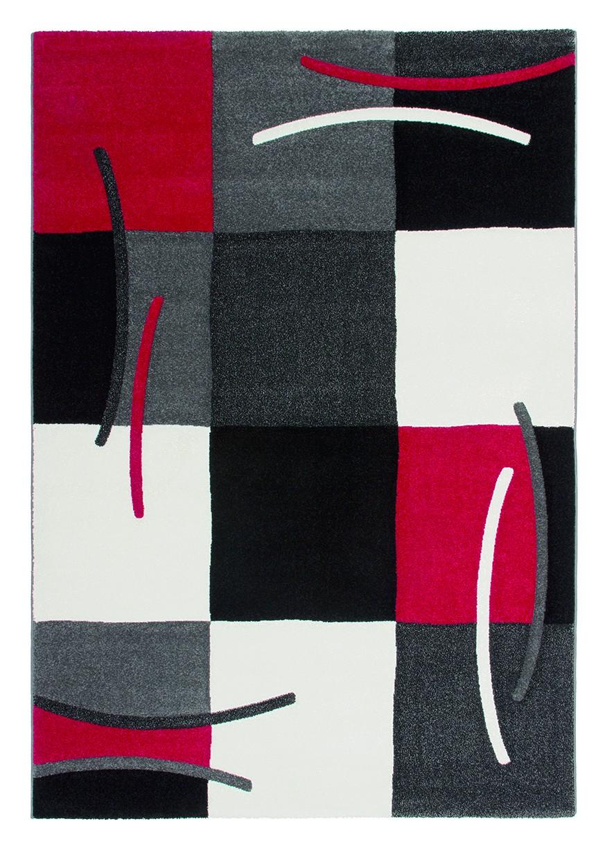 Tapis design pour salon rouge Sweet