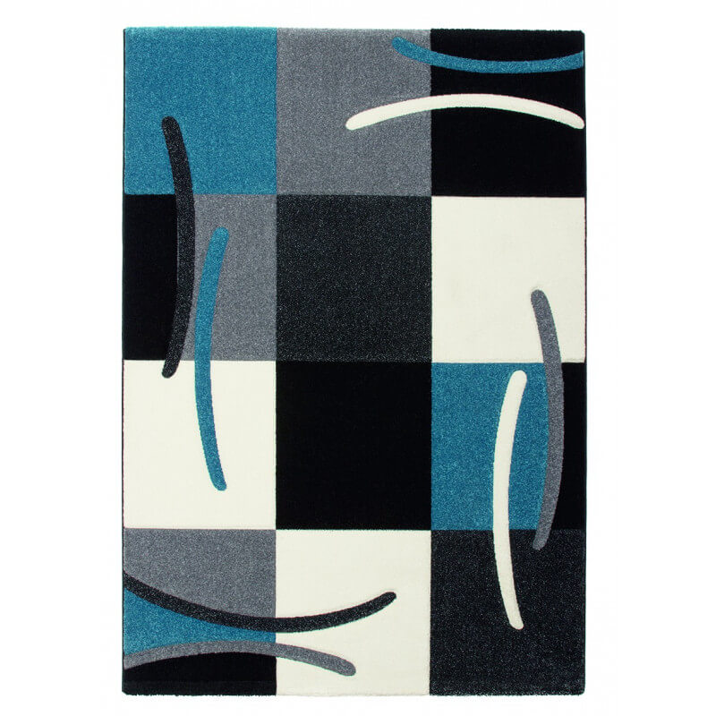 tapis design pour salon bleu sweet. Black Bedroom Furniture Sets. Home Design Ideas