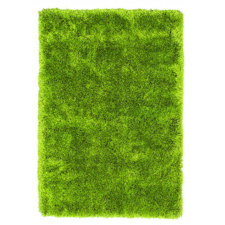 Tapis à longues mèches brillant en polyester vert Bahamas