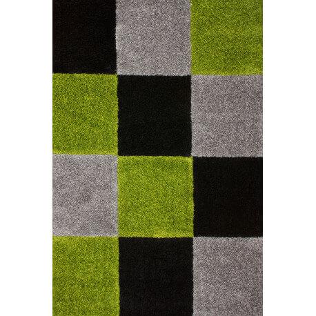 Tapis d'intérieur moderne noir et vert Kentucky
