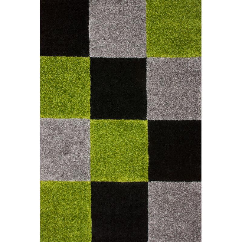 tapis d 39 int rieur moderne noir et vert kentucky. Black Bedroom Furniture Sets. Home Design Ideas