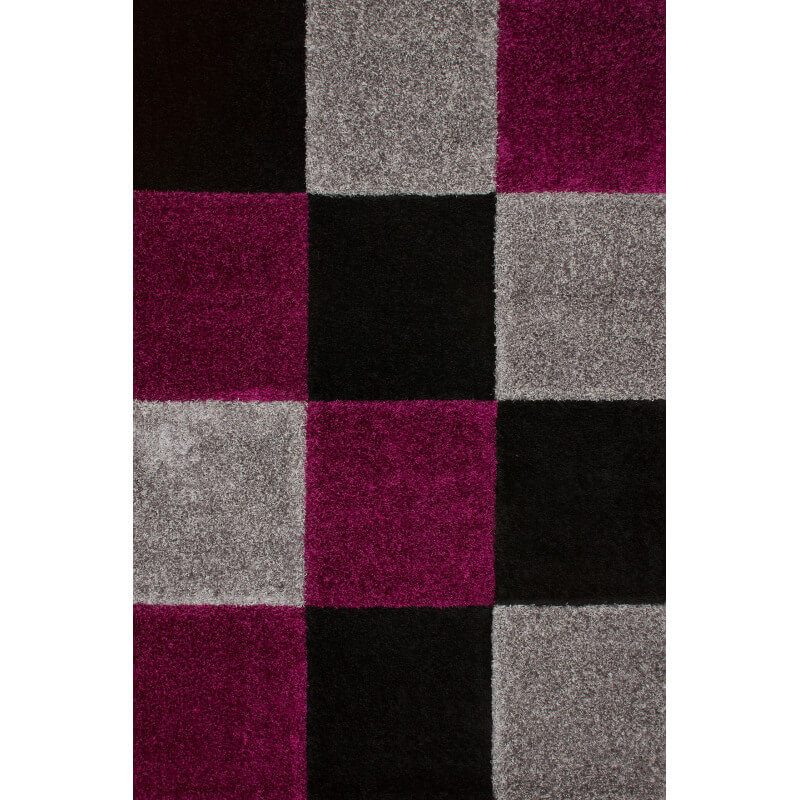tapis d 39 int rieur moderne noir et violet kentucky. Black Bedroom Furniture Sets. Home Design Ideas
