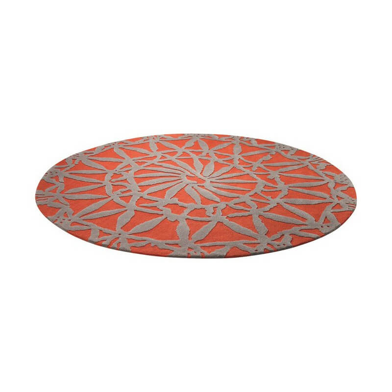 tapis rond orange oriental lounge par esprit home. Black Bedroom Furniture Sets. Home Design Ideas