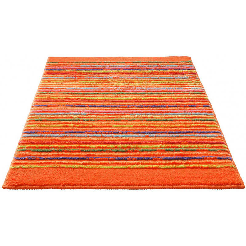Tapis de bain antid rapant orange cool stripes esprit home - Tapis de bain antiderapant ...