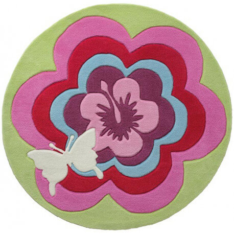 Tapis enfant rose tufté main Fantasy Flower Esprit Home