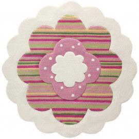 Tapis pour chambre de fille blanc Flower Shapes par Esprit Home