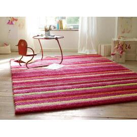 Tapis doux pour enfant rose Funny Stripes par Esprit Home