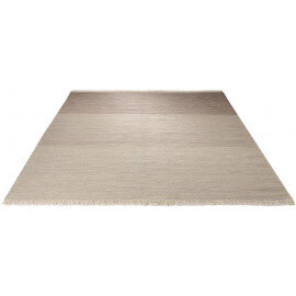 Tapis Esprit Home en laine marron à franges Casual