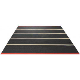 Tapis plat tissé main du Népal noir Simple Stripe Esprit Home