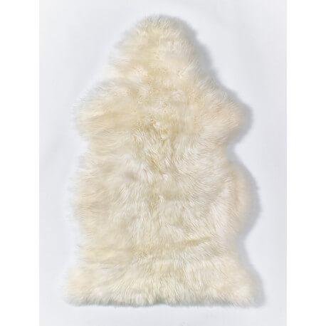 Tapis en peau de mouton naturel ivoire Courchevel