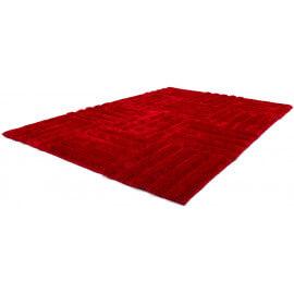 Tapis shaggy rouge Olymp II par Lalee