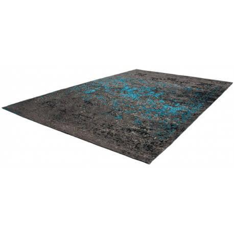 tapis plat fait main effet vintage bleu cocoon lalee. Black Bedroom Furniture Sets. Home Design Ideas
