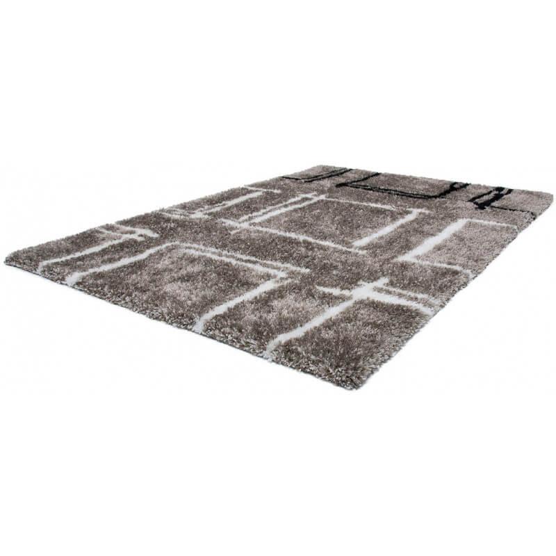 tapis design shaggy doux titane nova lalee. Black Bedroom Furniture Sets. Home Design Ideas