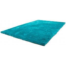 Tapis doux en polyester bleu turquoise Tango par Lalee