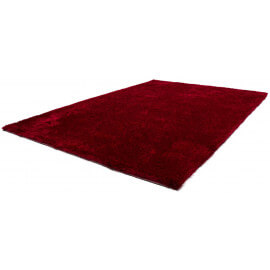 Tapis doux en polyester rouge Tango par Lalee