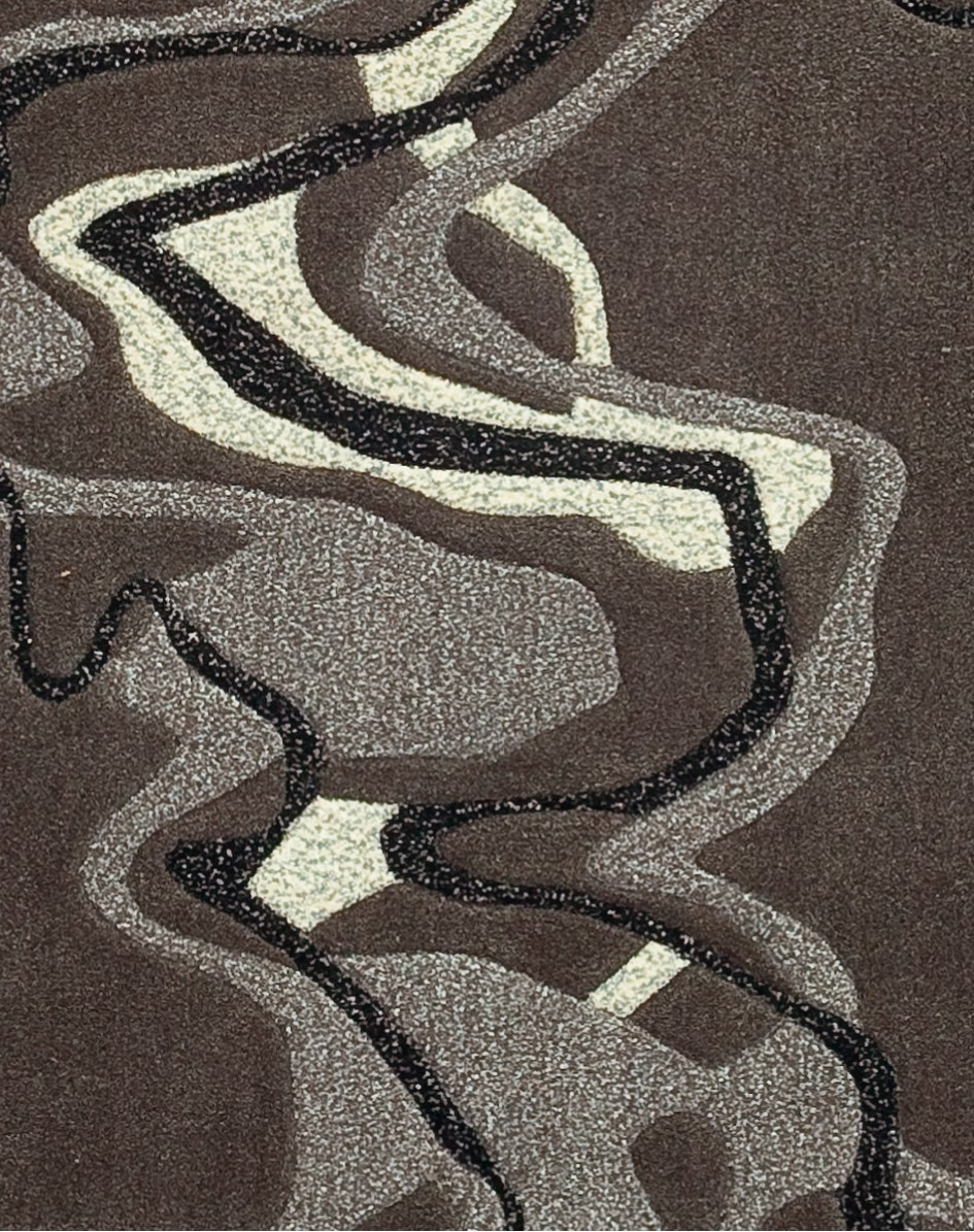 Tapis gris Echo par Arte Espina