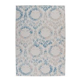 Tapis vintage en acrylique bleu avec lurex Elina