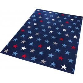 Tapis à courtes mèches bleu pour salon Starry Sky