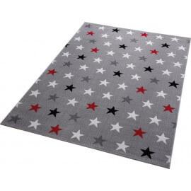 Tapis à courtes mèches gris pour salon Starry Sky