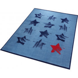 Tapis bleu Wecon Home design Red Star