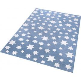 Tapis en polyester microfibre bleu de chambre Jeans Star