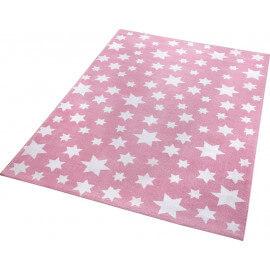Tapis en polyester microfibre rose de chambre Jeans Star